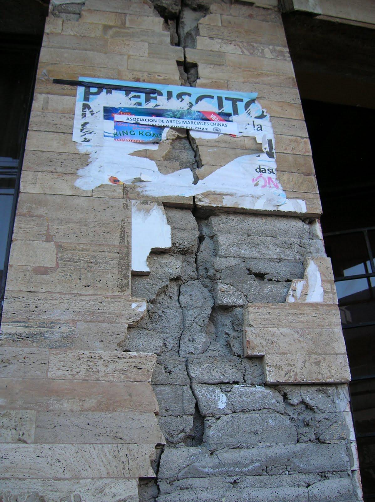 Huellas terremoto, Los Angeles, Chile, vuelta al mundo, round the world, La vuelta al mundo de Asun y Ricardo