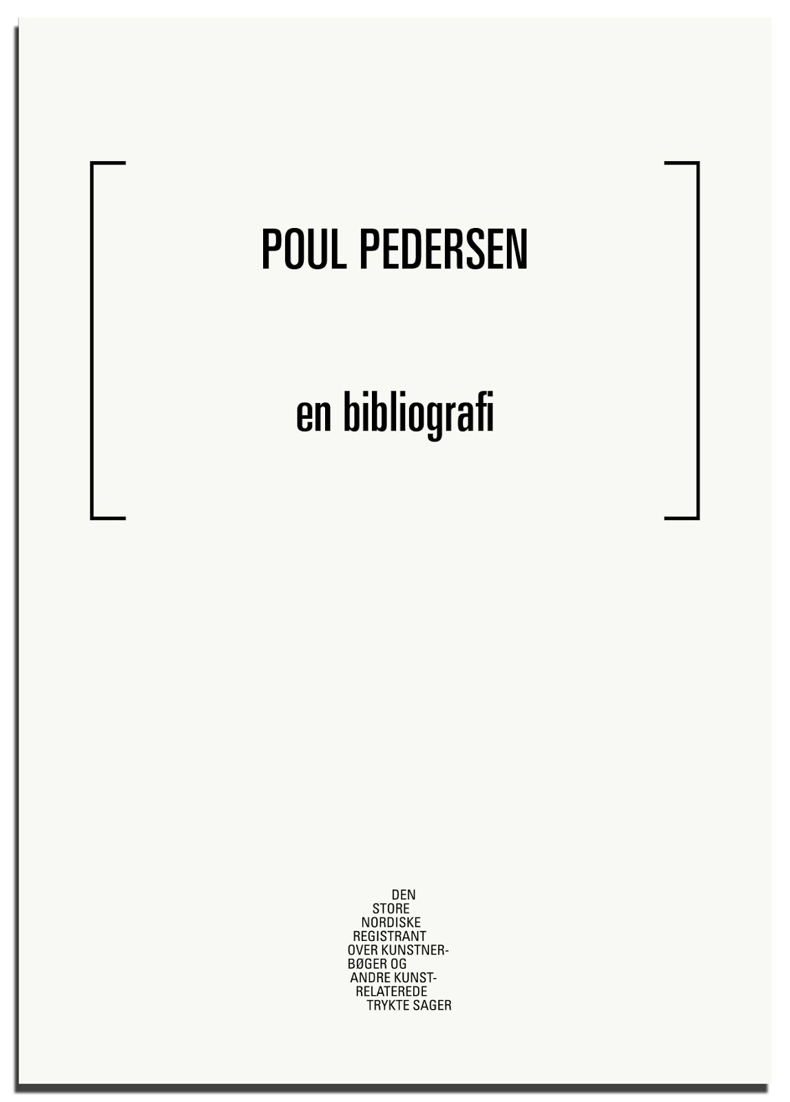 Poul Pedersen -en bibliografi