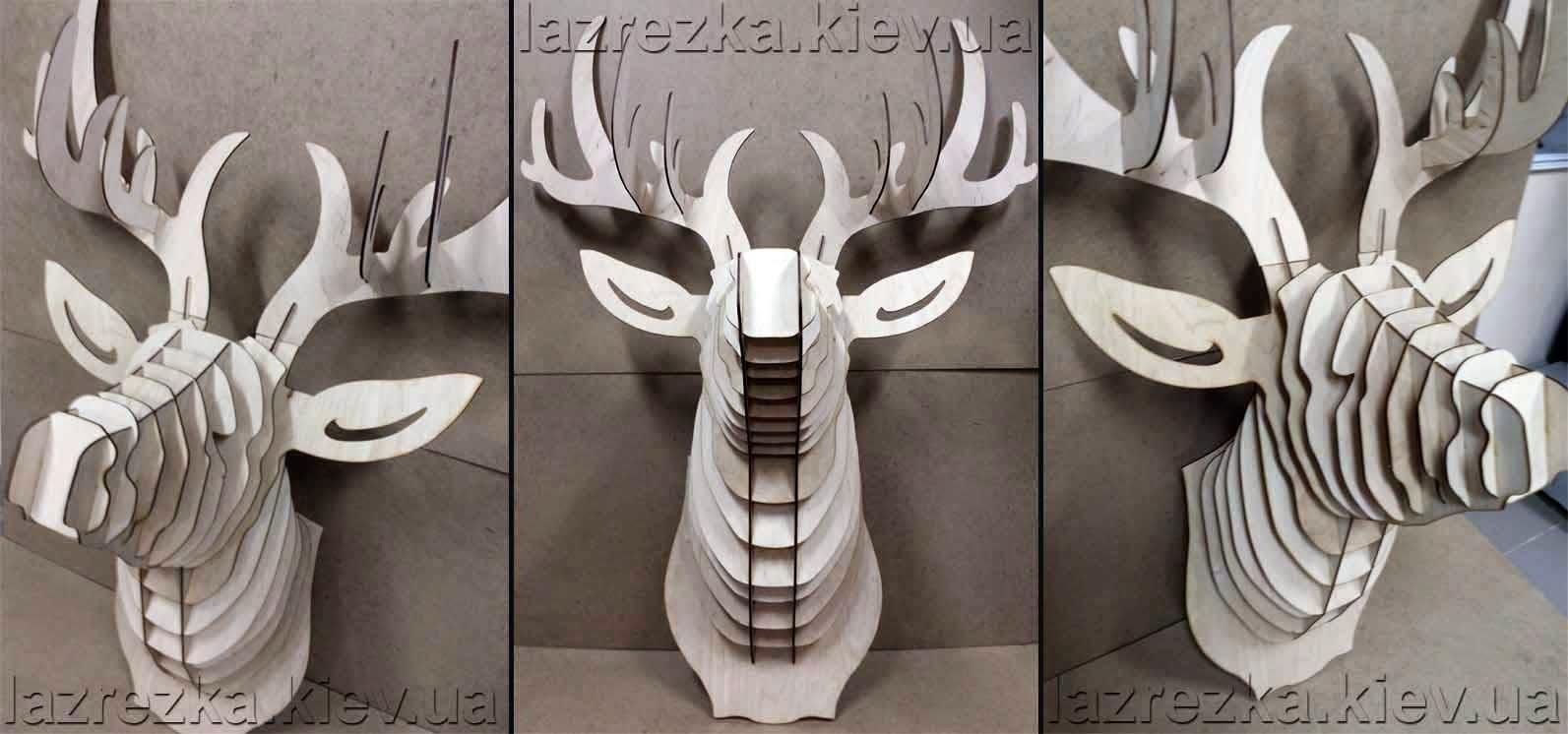 трофей голова оленя - лазерная резка Киев