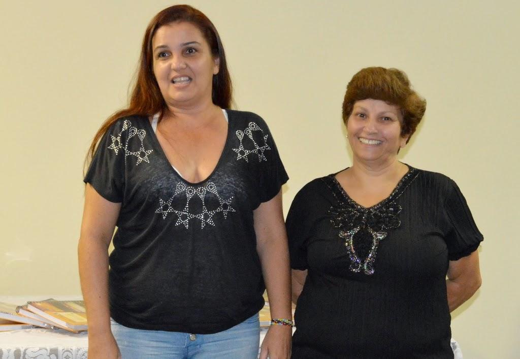Fátima Pereira Machado, nova presidente do Conselho, e Denise Ritter da Rocha, uma dos representantes dos profissionais de Educação