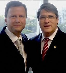 Paulo Marques e presidente da OABRS Cláudio Lamacchia