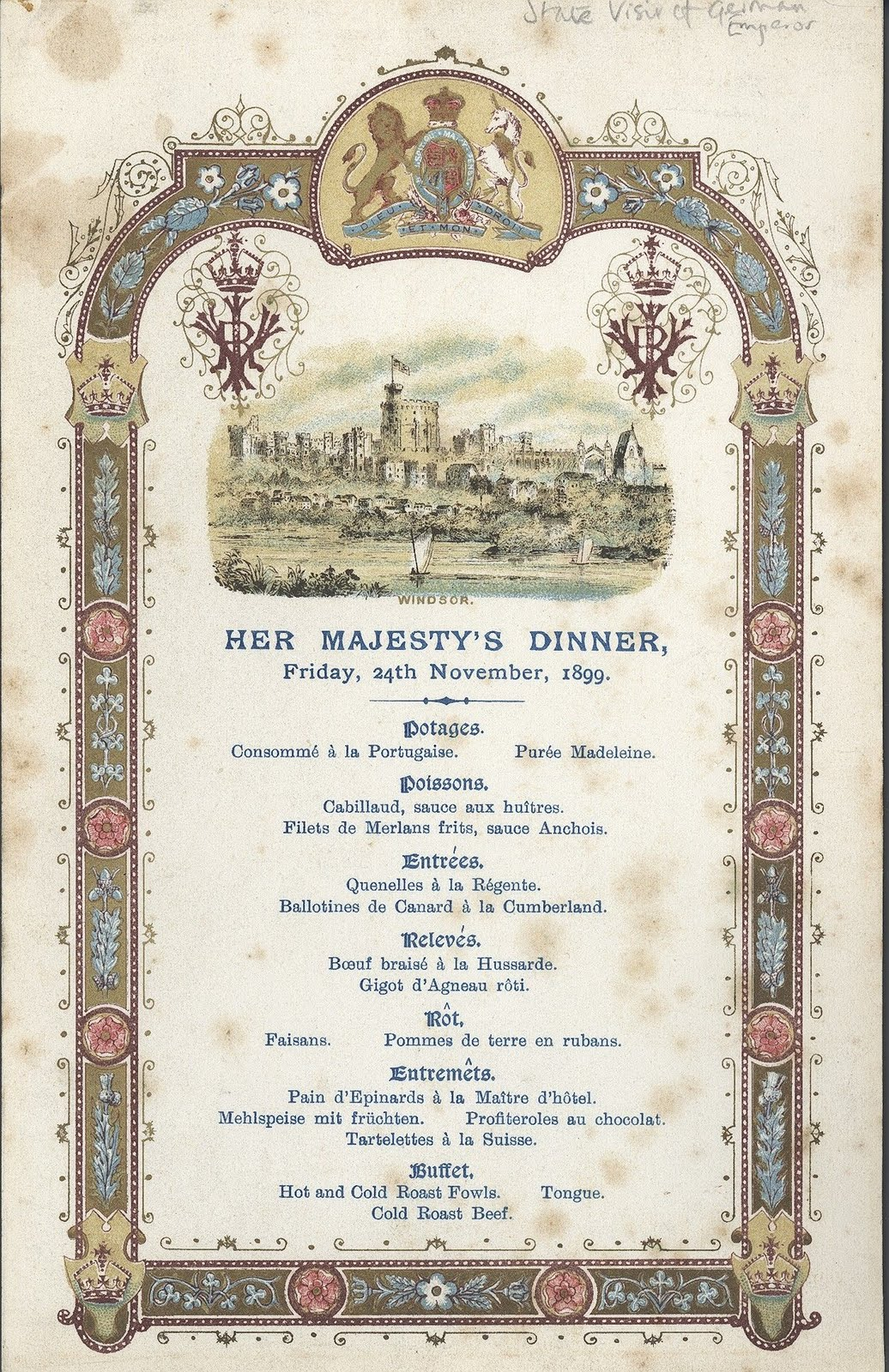 The Red White And Blue A Royal Wedding Menu