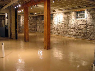 basement concrete wall paint ideas
