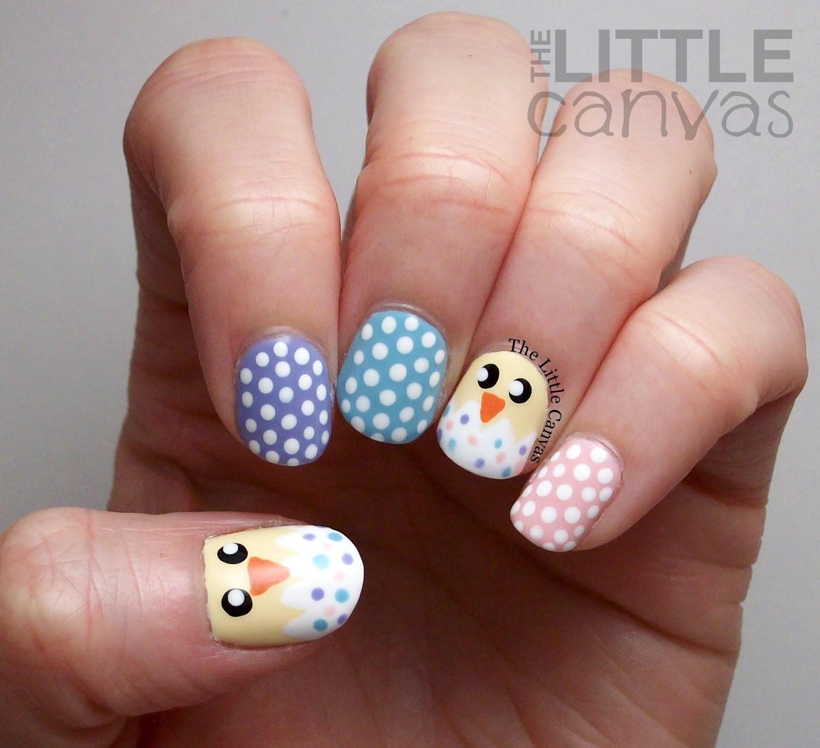The Little Canvas: Hatched Easter Chick Nail Art + Tutorial