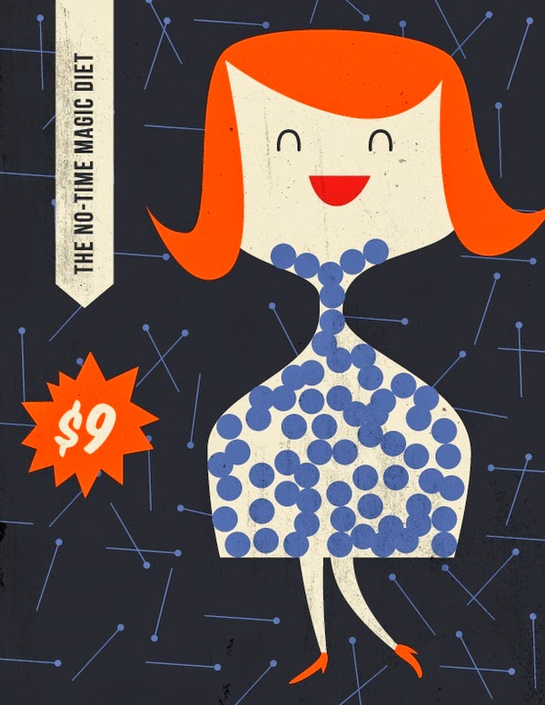 illustration by Anna Kovecses of a red haired girl in her diet pills dress