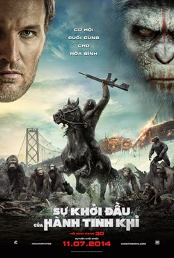 Dawn Of The Planet Of The Apes 2014 poster