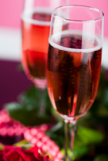 Vegan champagne cocktail for the holidays
