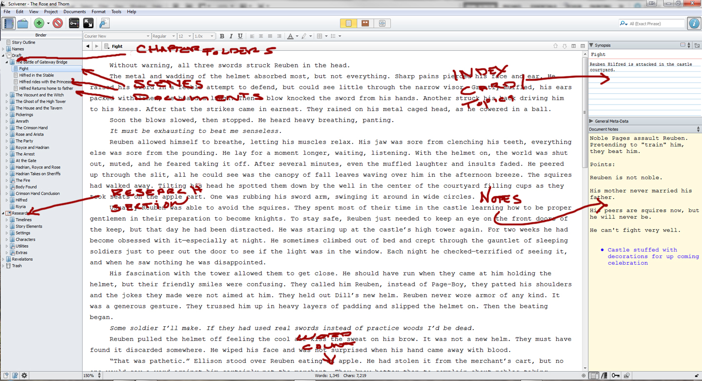 scrivener Scrivener has lots of really useful features that i will get into below, but first, i think it would be good to show you the getting started screencast made by the.