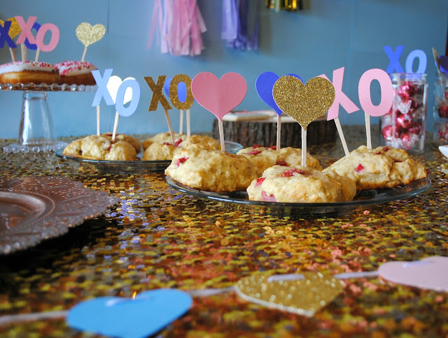Galentine's Day brunch scones by Fizzy Party