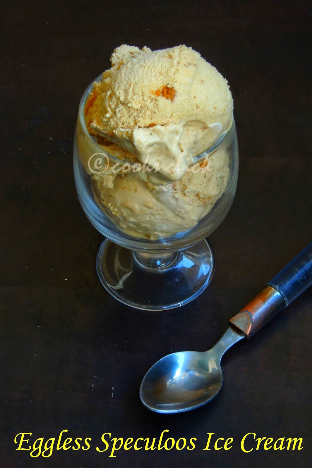 Eggless speculoos icecream without icecream Maker