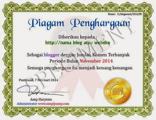 contoh award