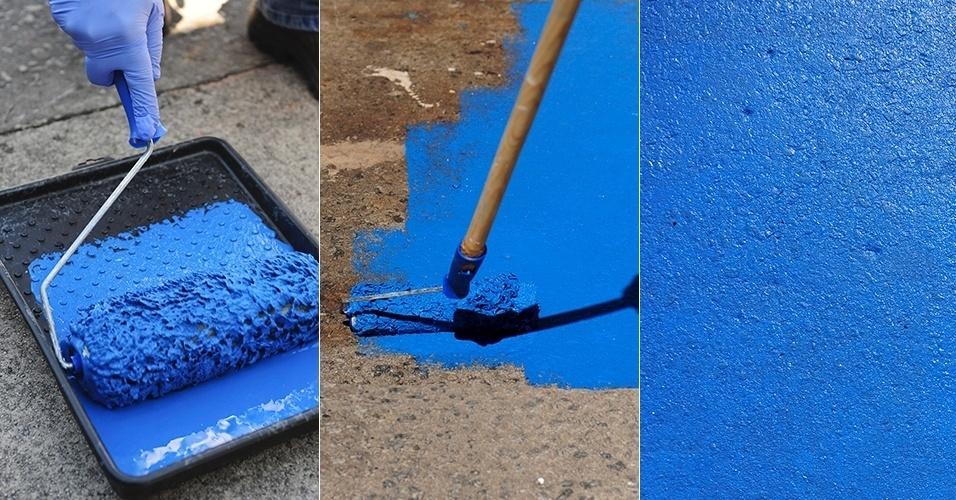 Como pintar azulejos dica da arquiteta - Como pintar piso ...