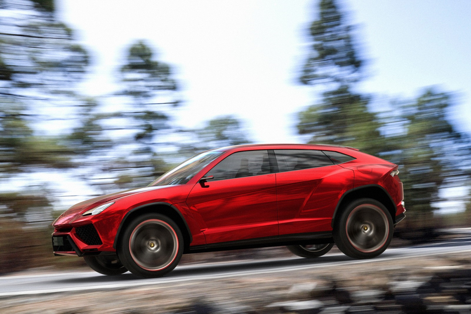 yellow color wallpaper: 2012 lamborghini urus concept hd pics in red