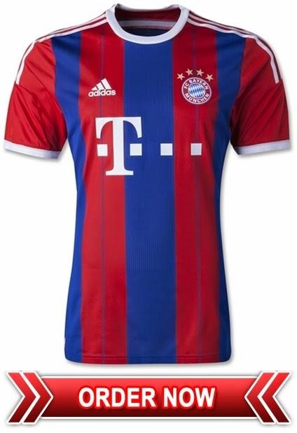Jersey GO Terbaru Bayern Munchen Home Musim 2014-2015