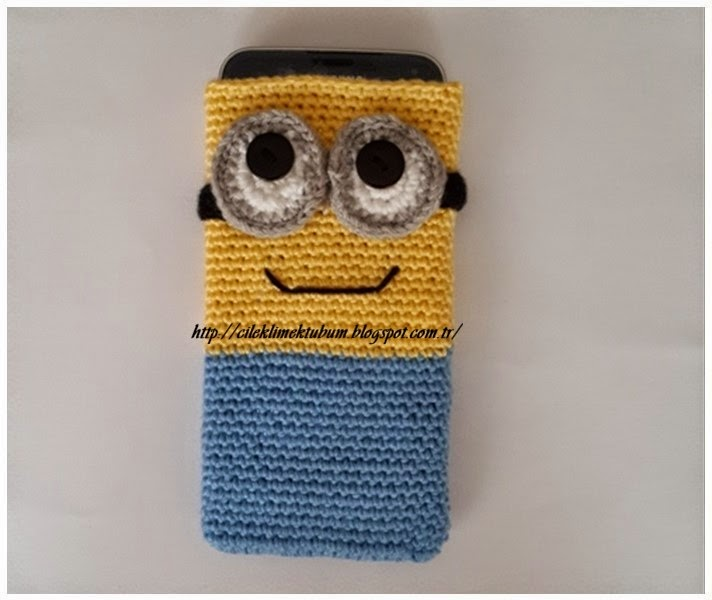 tığişi, crochet, tığişibere, crochethat,minions,despicable me,telefonkılıfı,handmade,elişi,örgü,elyapımı,tığişişapka,