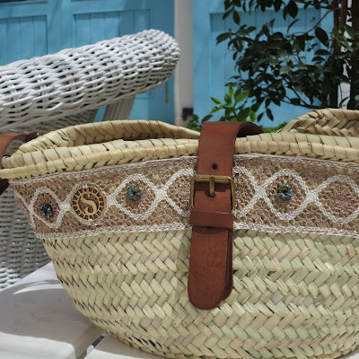 photo straw bag, capazo alambra