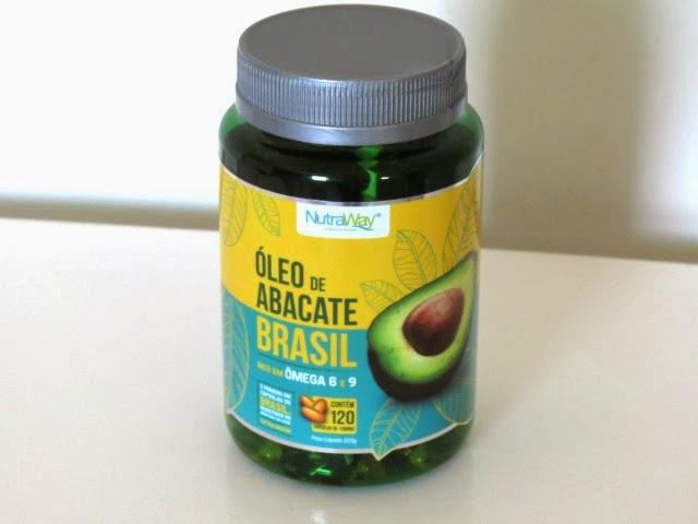 Óleo de abacate em cápsula