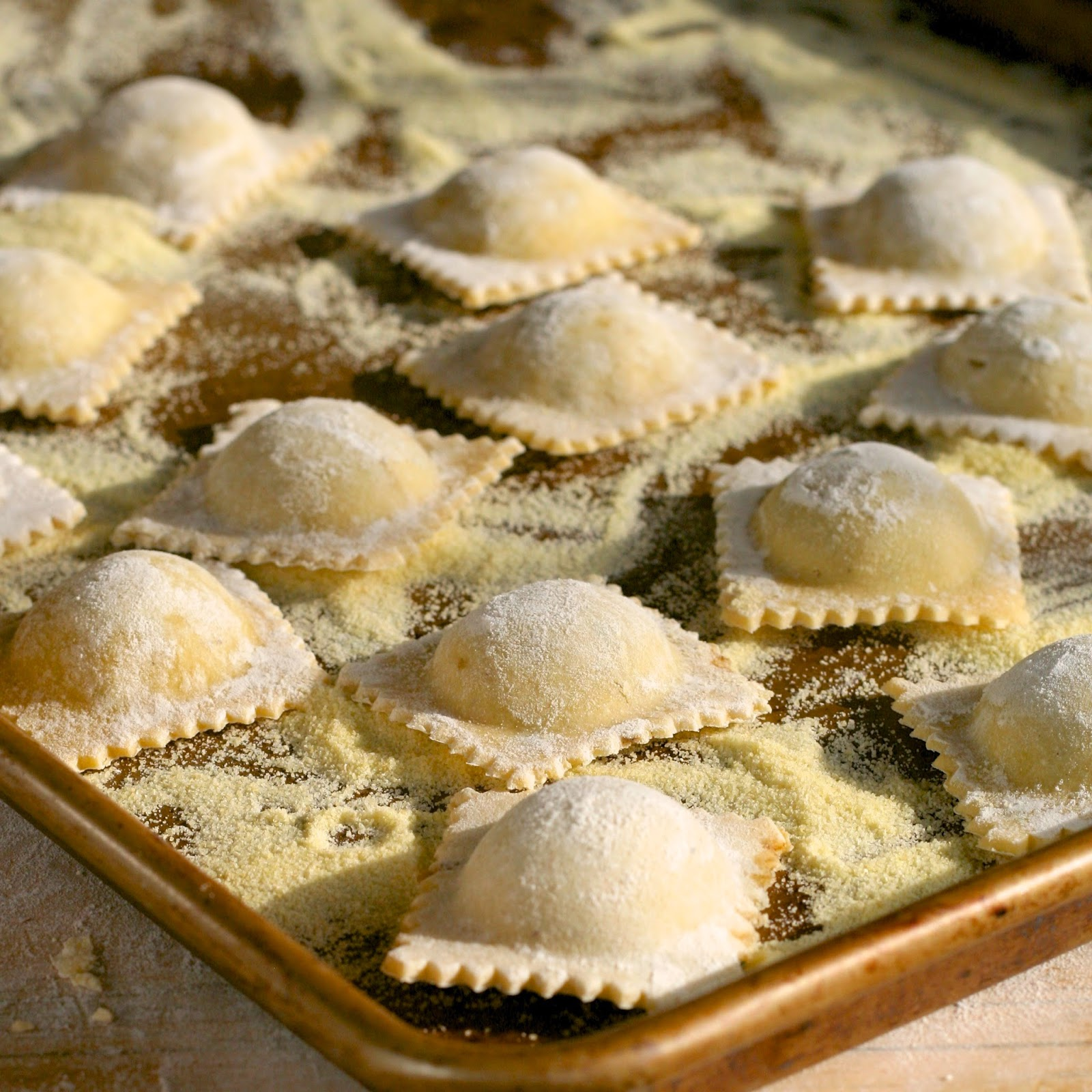 Homemade ravioli can be eaten every day