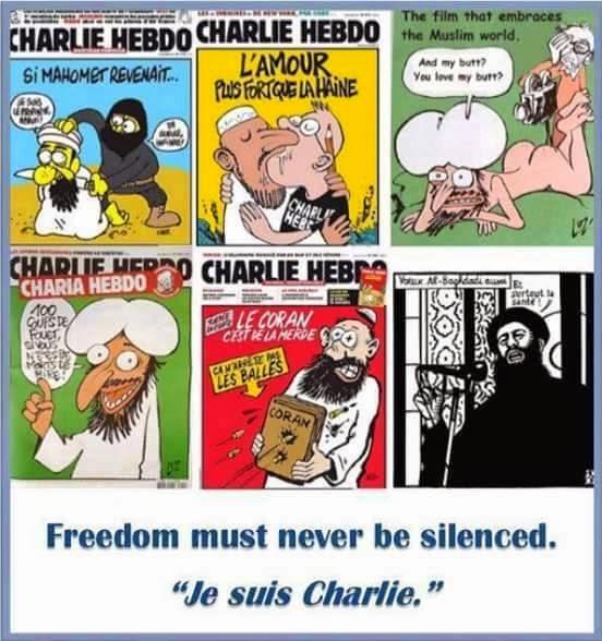 """""""Es mejor morir de pie que vivir de rodillas"""" Todos somos Charlie"""