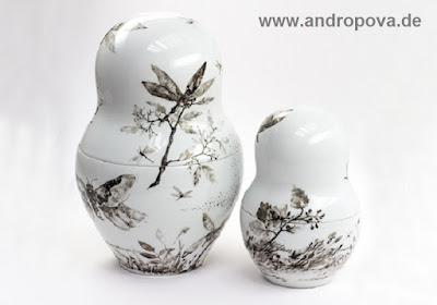 Matroschka eine Porzellanpuppe, die sich entpuppt - Galerie Porzellankunst ᛝ www.andropova.de ᛝ