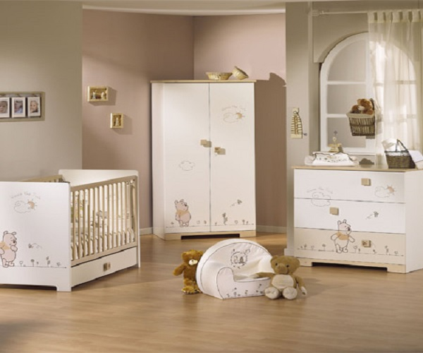 D coration chambre bebe winnie for Deco ourson chambre bebe