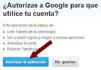 Autorizar a Google para usar Twitter