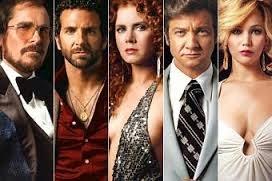 Christian Bale, Bradley Cooper, Amy Adams, Jeremy Renner y Jennifer Lawrence.