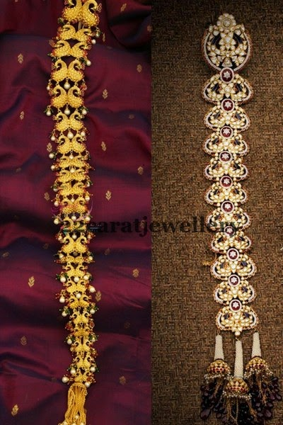 Gold And Diamond Peacock Jada Jewellery Designs