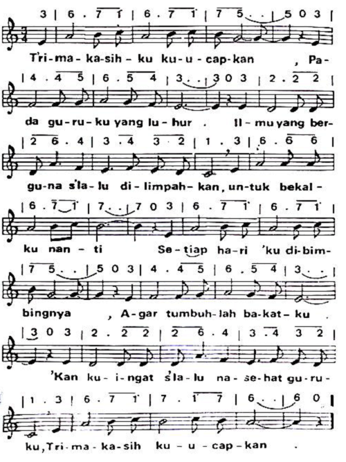 we hope Syair dan not lagu trima kasihku are solution for your problem
