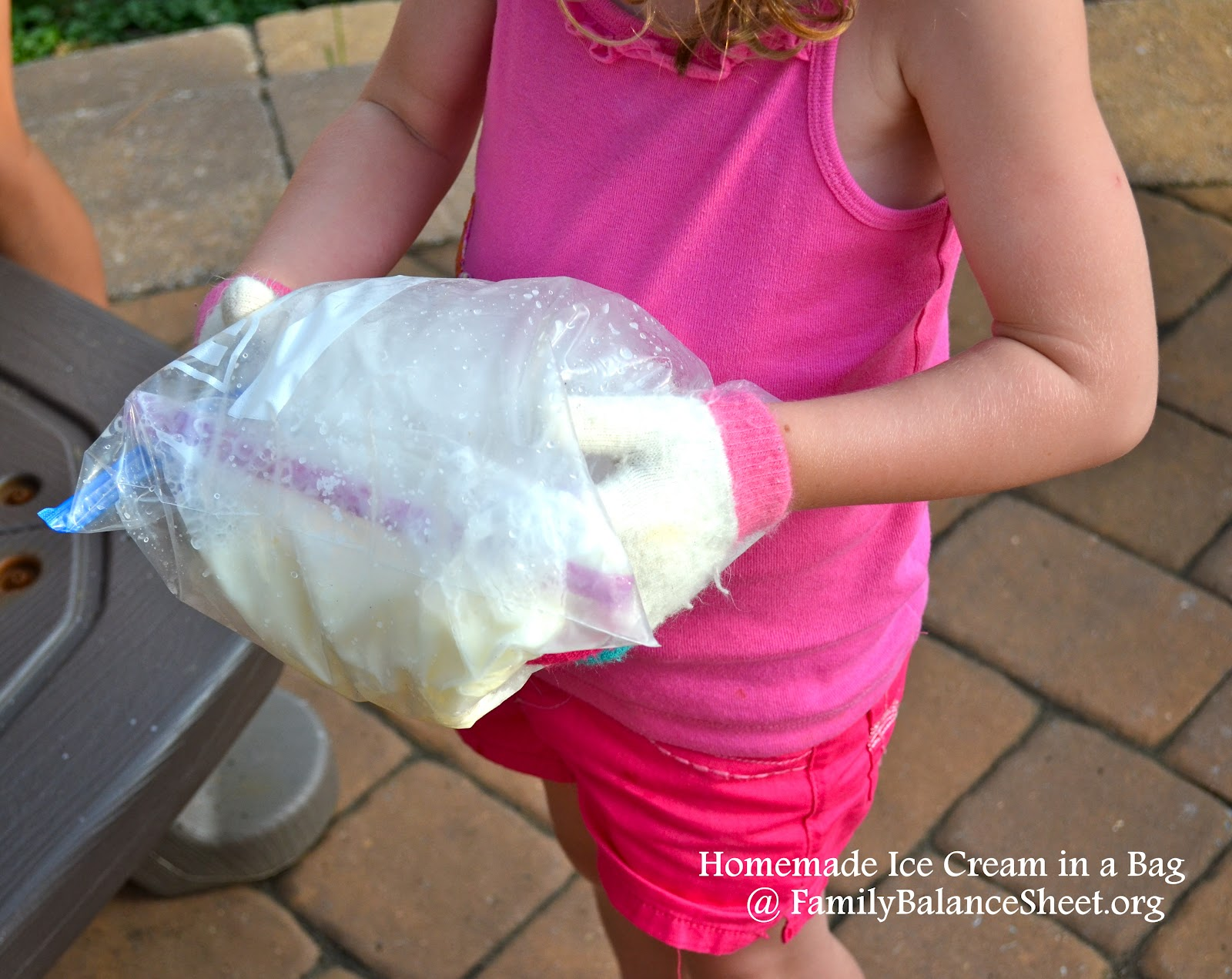 how to make orange ice cream in a bag