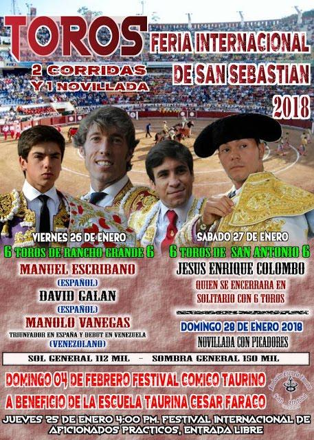 VENEZUELA: FERIA INTERNACIONAL DE SAN SEBASTIAN 2018.