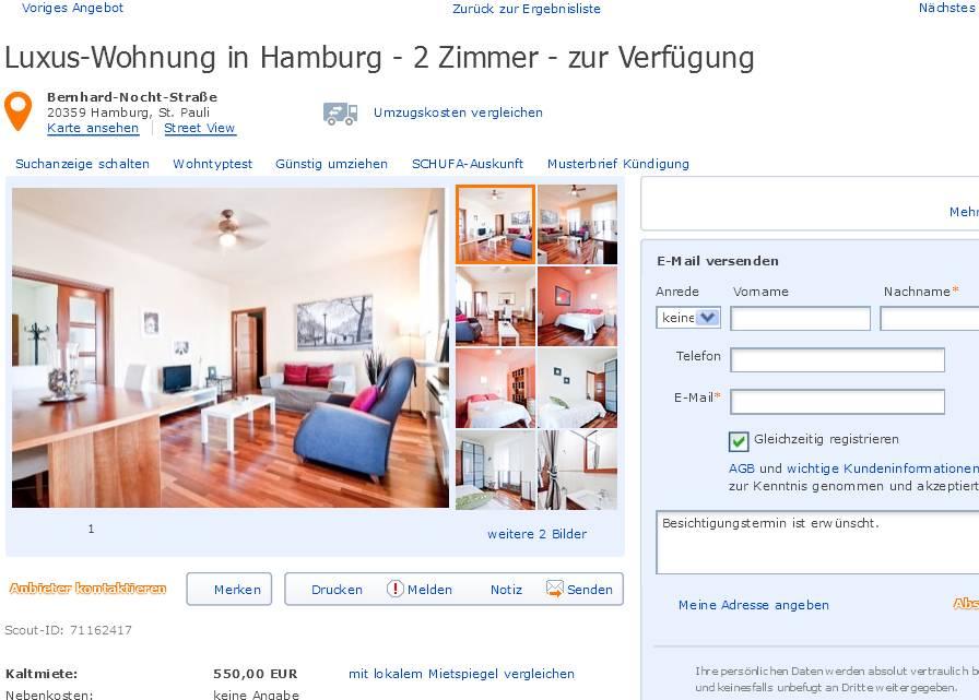 zweigdieter luxus wohnung in hamburg 2 zimmer zur verf gung bernhard nocht stra e. Black Bedroom Furniture Sets. Home Design Ideas