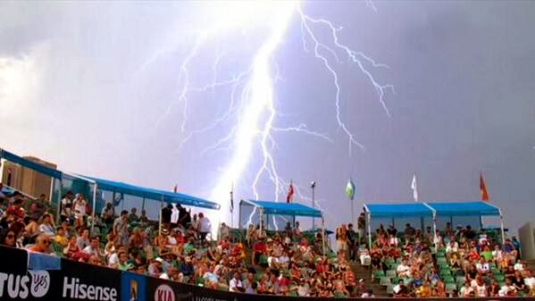Rayos en el Australian Open