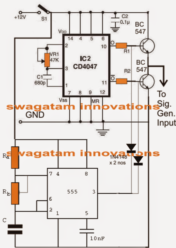 make this 3 phase inverter circuit electronic circuit projects the following circuit shows a simple three phase generator circuit which converters the above input push pull signal into 3 discrete outputs phase shifted