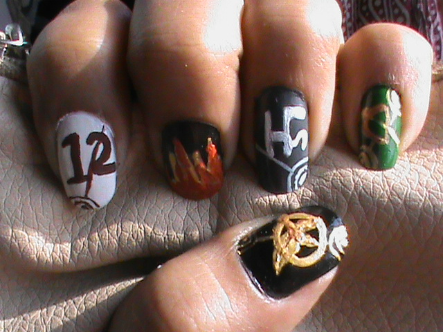Easy nail designs for beginners hunger games nail designs and very easy hunger games nail designs and easy hunger games nail art and easy hunger games nail art designs for short nails and easy hunger games nail design prinsesfo Images