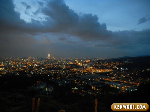 kuala lumpur city night view