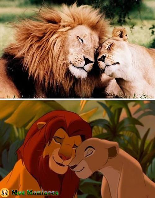 """Simba e Nala de """"O Rei Leão"""""""
