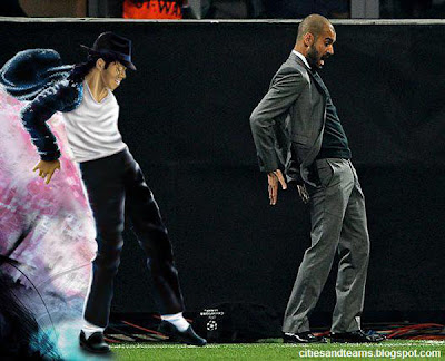 Pep Guardiola & Michael Jackson Dance Show Hd Wallpaper