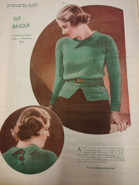 Free 1930's Knitting Pattern - One to Knit & One to Crochet