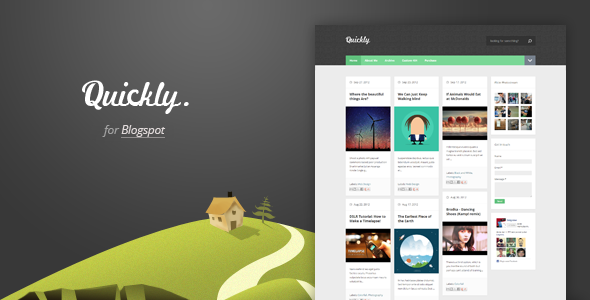 Quickly - Responsive Blogger Template Free Download