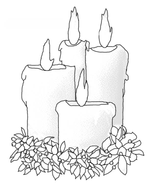 Candles Coloring Pages For The Winter