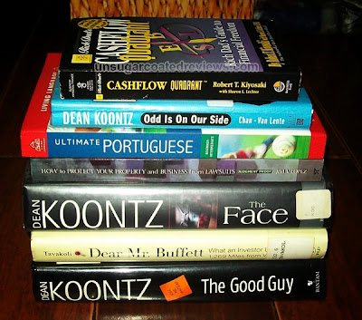 books bought at the 32nd Manila International Book Fair