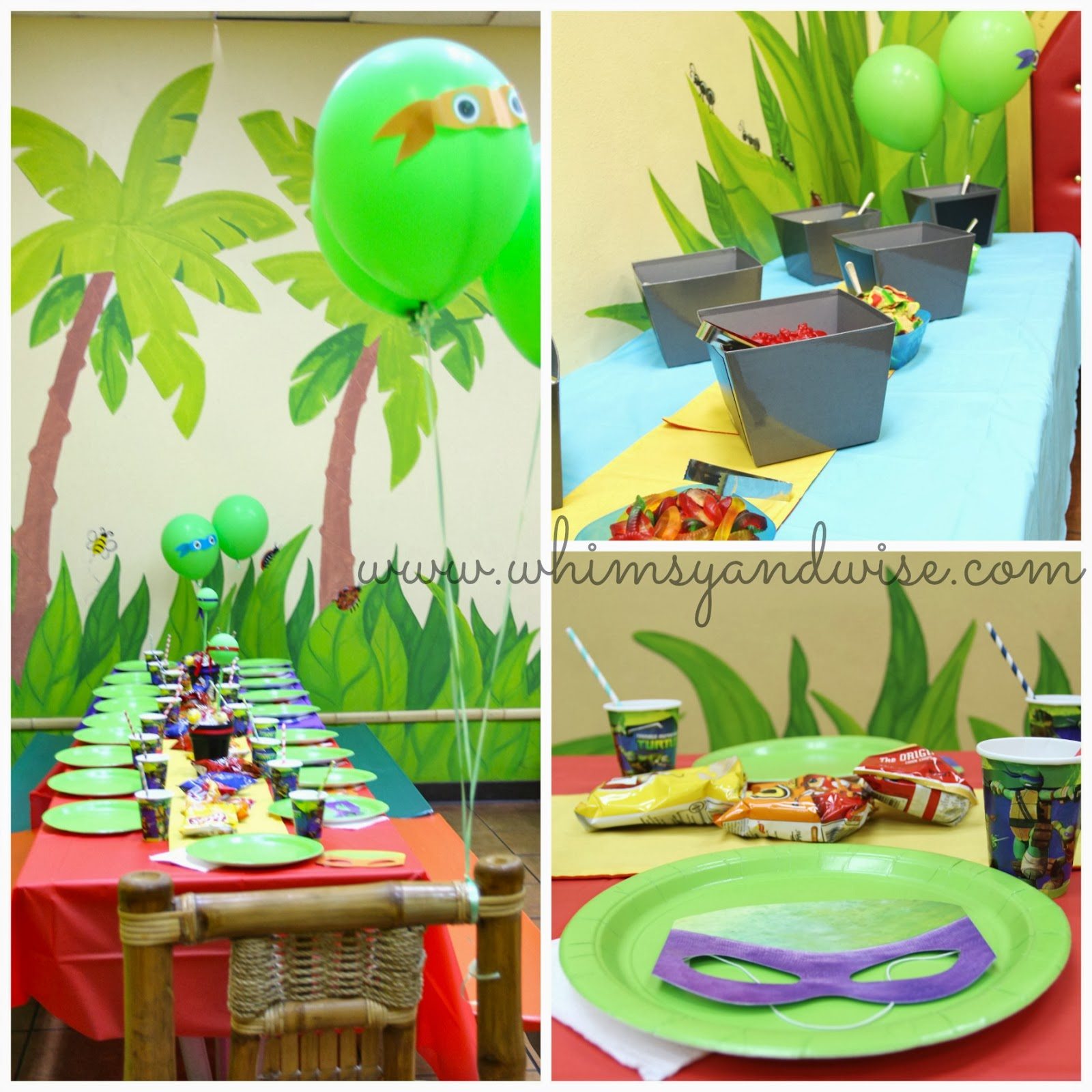 Whimsy wise events cowabunga dude it 39 s a tmnt birthday for Tmnt decorations