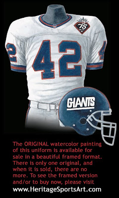 New York Giants 1999 uniform
