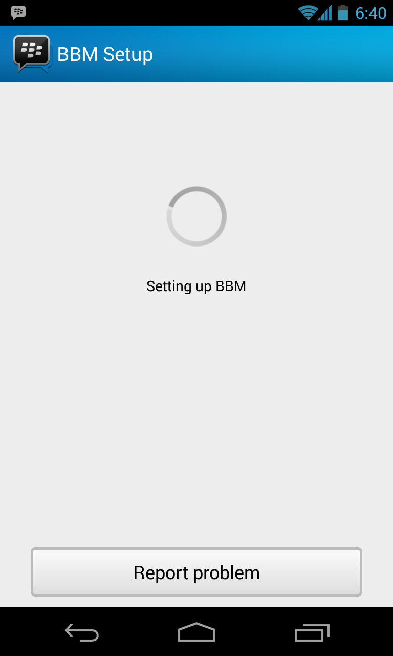 they are able to run BBM on their Android devices using leaked APK
