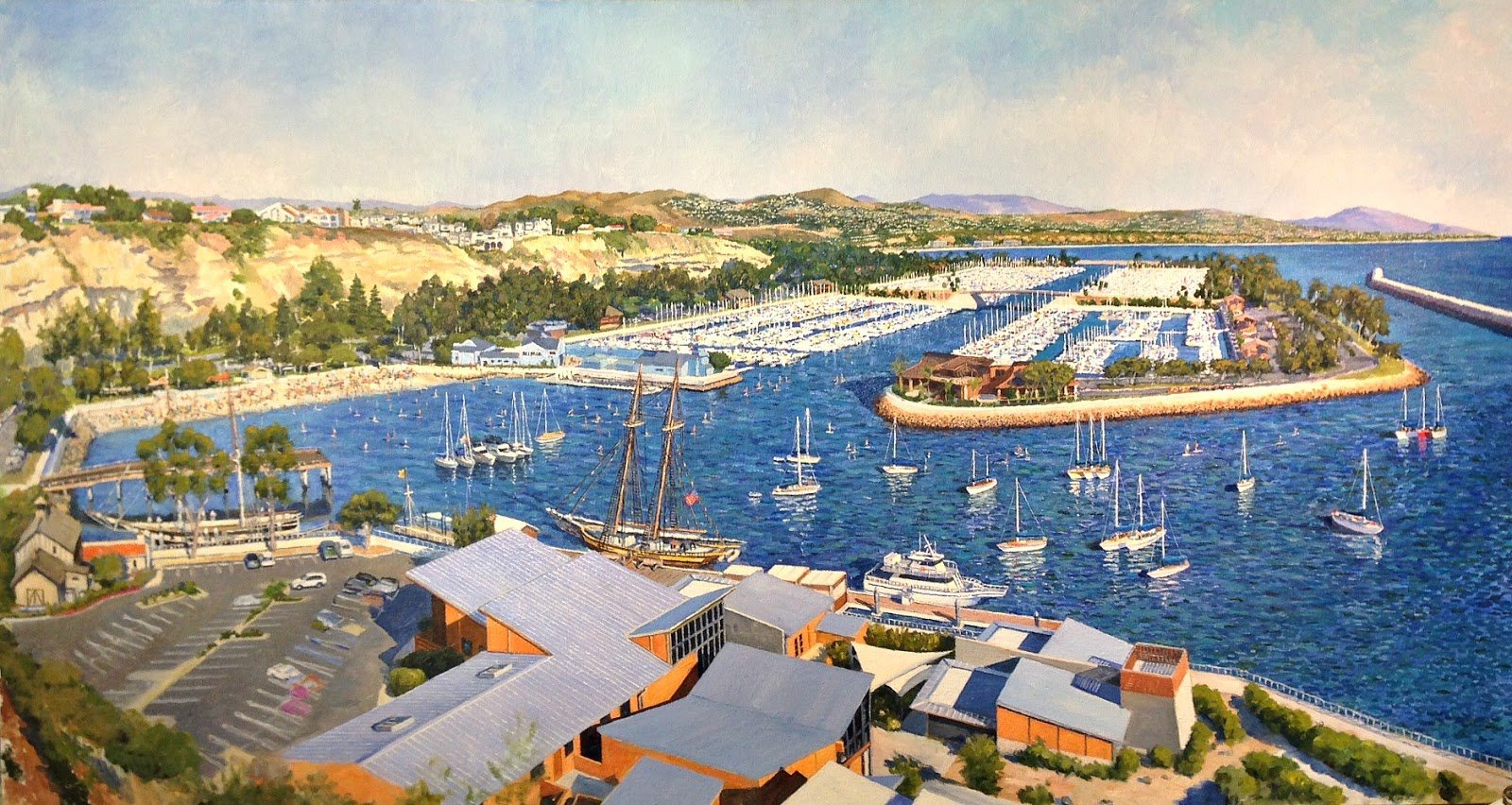 Kimberleigh paul gavin fine art paul and 25th for Dana point harbor fishing