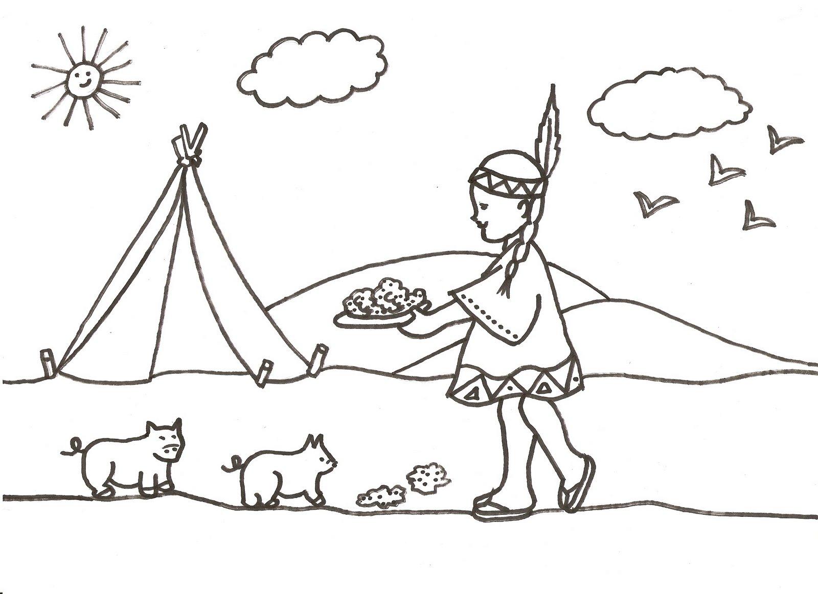 PZ C: desenho do indio