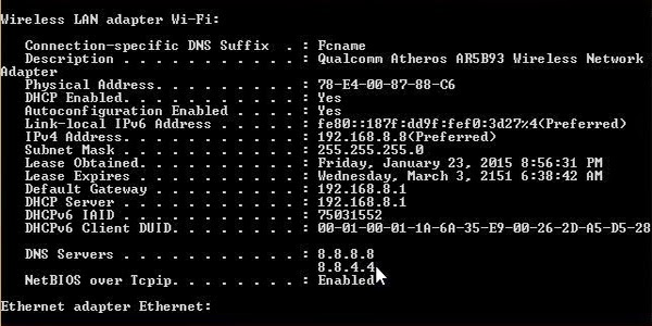 Cách Thay Đổi DNS Google Trên Moderm 1