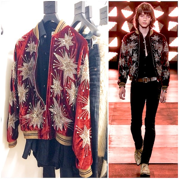 SAINT LAURENT BY HEDI SLIMA E SPRING SUMMER 2015 JACKET WITH EMBROIDERED STARS