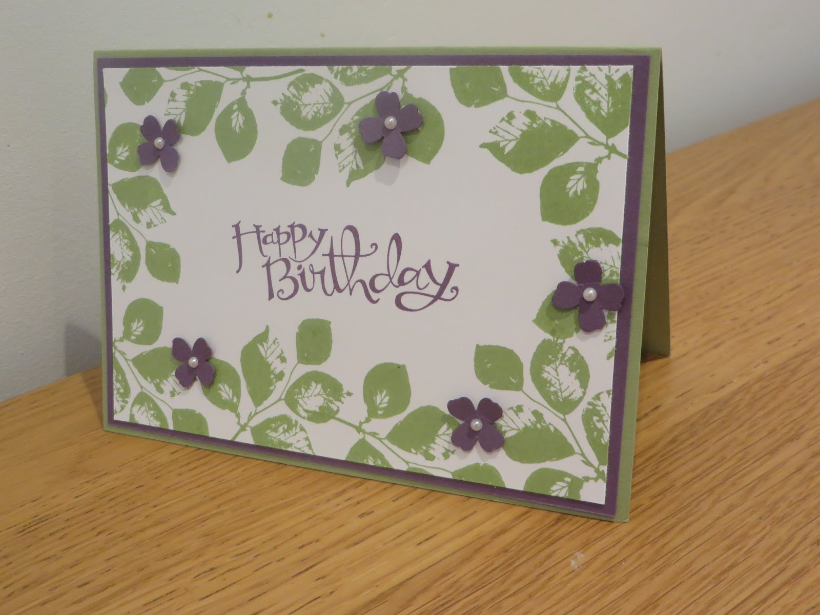 CraftyCarolineCreates Leafy Kinda Eclectic Birthday Card Idea